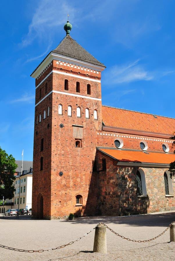 Uppsala, Suecia. Iglesia Helga Trefaldighets Kyrka fotografía de archivo libre de regalías
