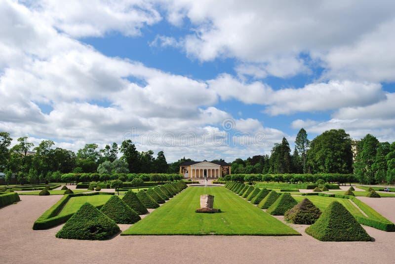 Uppsala, Suecia. Jardín botánico imagenes de archivo