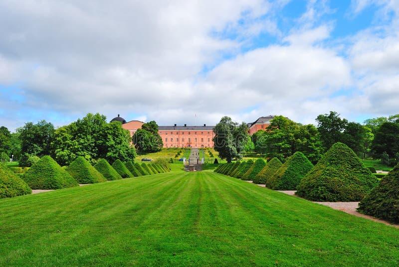 Uppsala, Suecia. Jardín botánico de la universidad imagen de archivo