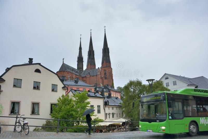 Uppsala universitetstad fotografering för bildbyråer