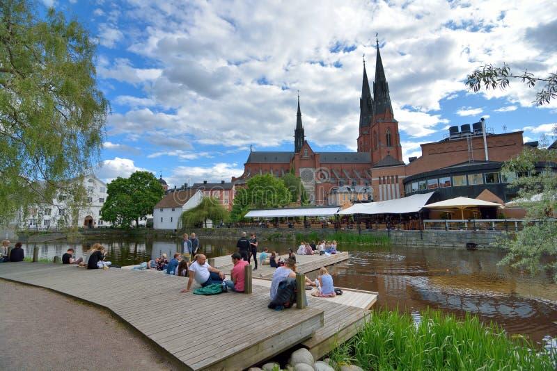 Uppsala universitetstad arkivbild