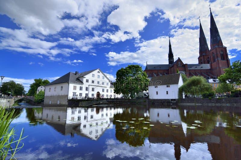 Uppsala universitetstad royaltyfri fotografi