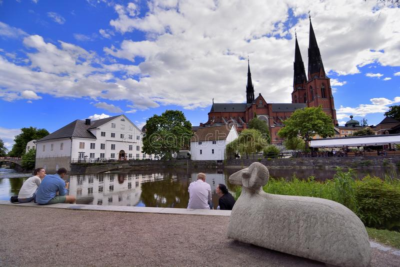 Uppsala universitetstad royaltyfri bild