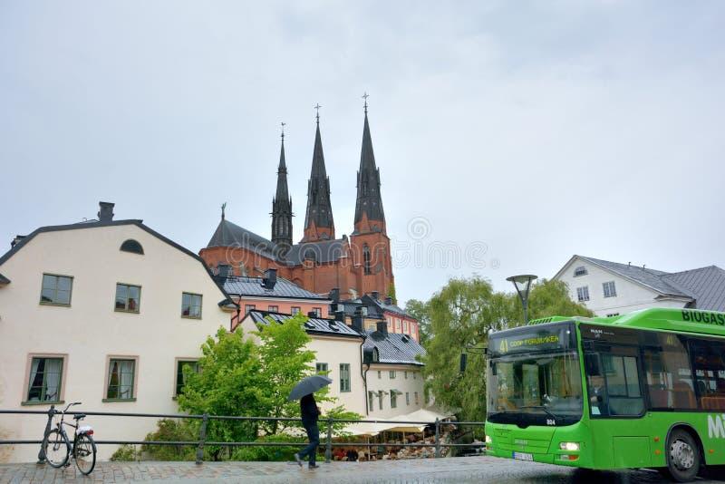 Uppsala universitetstad royaltyfri foto