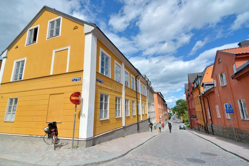 Uppsala universitetstad arkivfoto