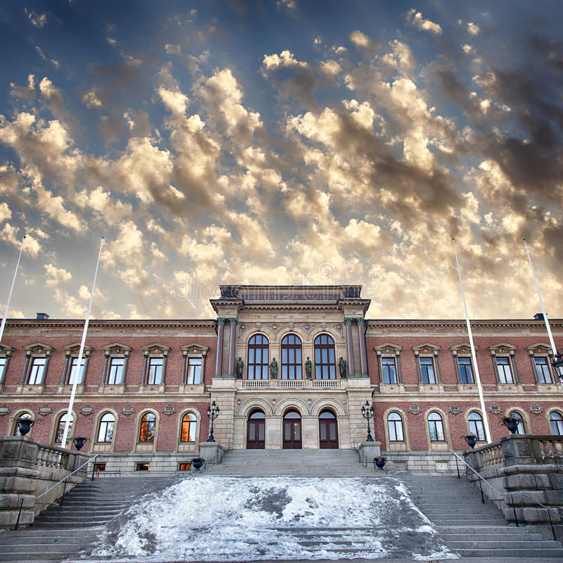 Uppsala university library. Image of the grand university library in Uppsala, Sweden royalty free stock images