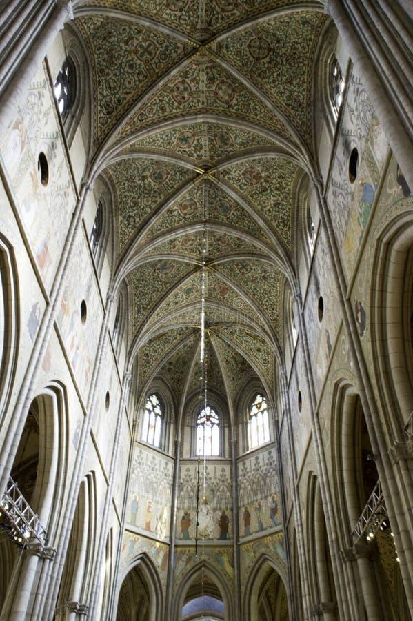 UPPSALA, ZWEDEN - 23,2014 AUGUSTUS: Kathedraaldata terug naar laat dertiende stock afbeeldingen