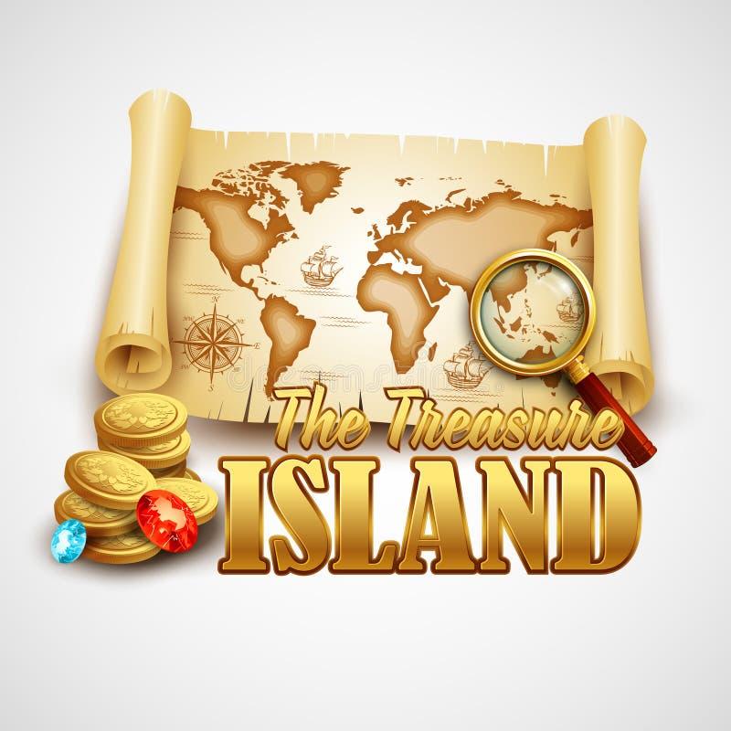 Uppskatta ön kantlagrar låter vara vektorn för oakbandmallen vektor illustrationer