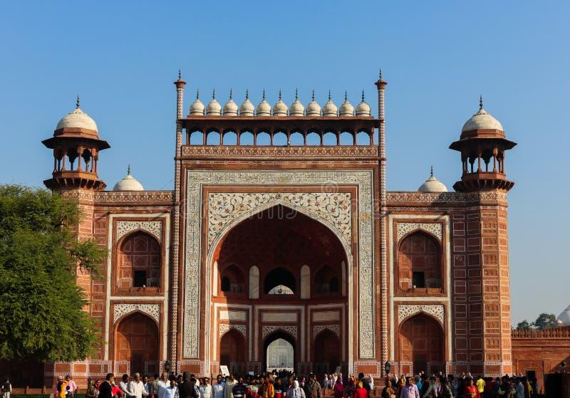 Uppslagsordnyckeln av Taj Mahal, Agra, Indien arkivfoto