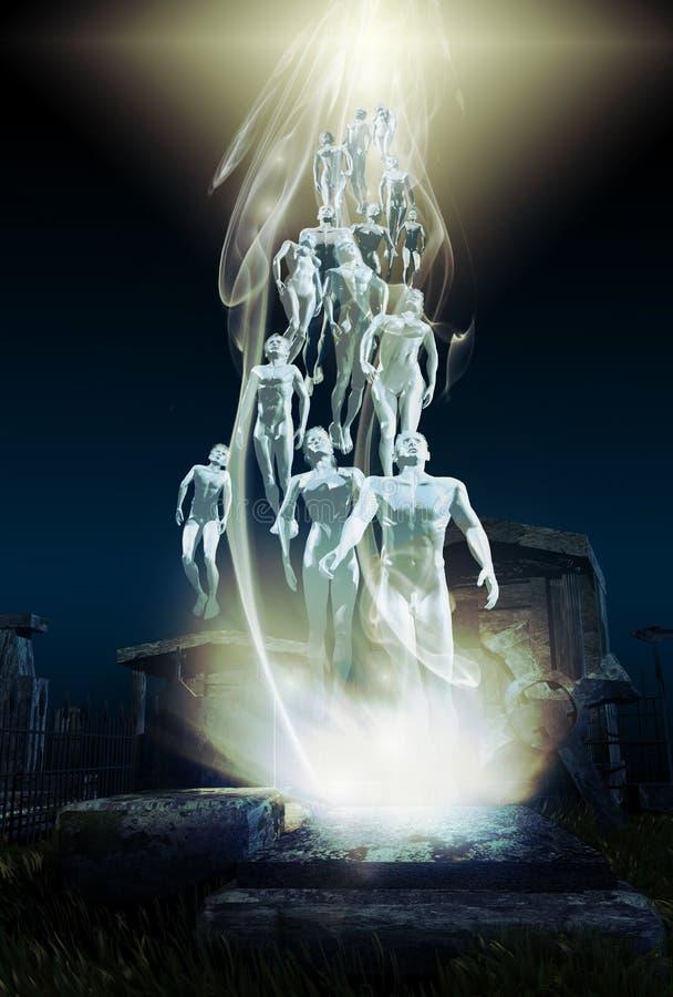 uppståndelse stock illustrationer