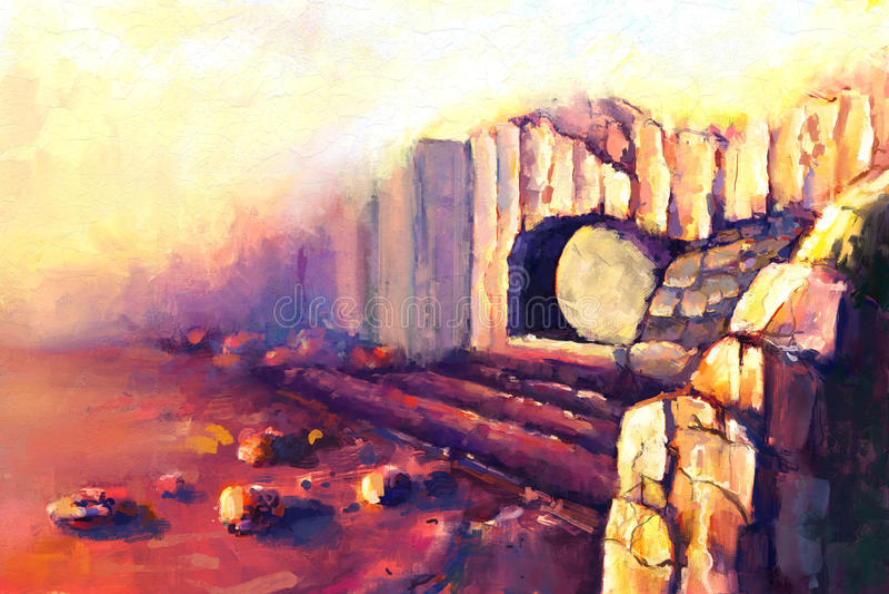 Uppståndelse Jesus Christ vektor illustrationer