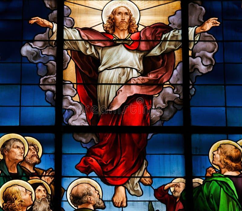 uppstigning christ royaltyfri bild
