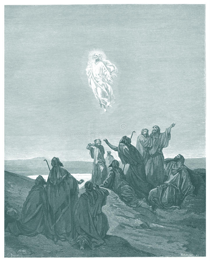 Uppstigningen av Jesus vektor illustrationer