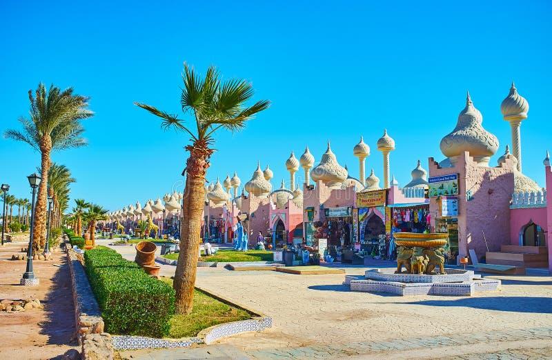 Upptäck marknader av Sharm el Sheikh, Egypten royaltyfri foto