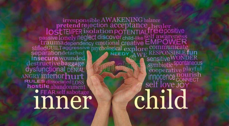 Upptäck och lär att älska ditt inre barn arkivfoton