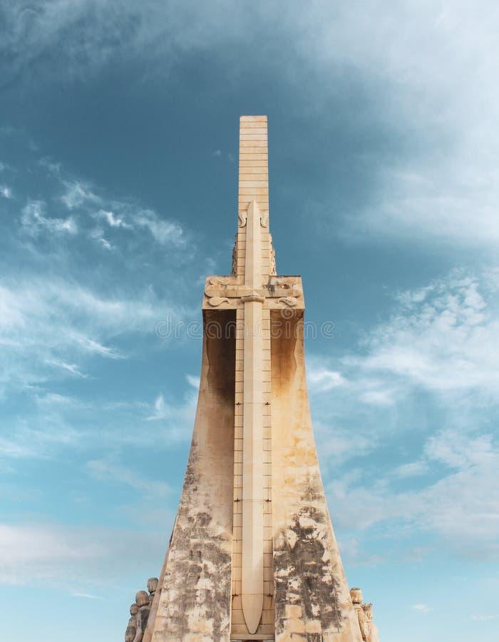 uppt?cktlisbon monument till arkivfoto