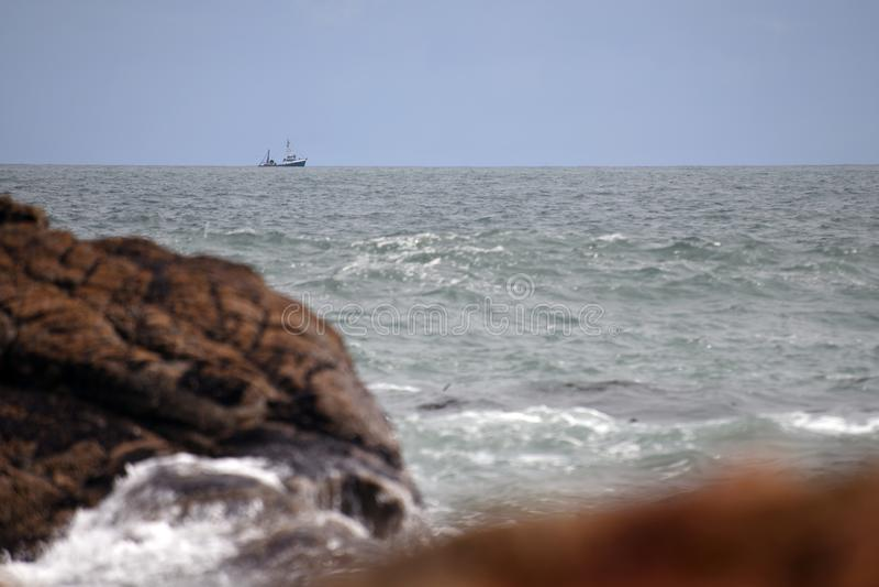 Upptagen dag på havet arkivbilder