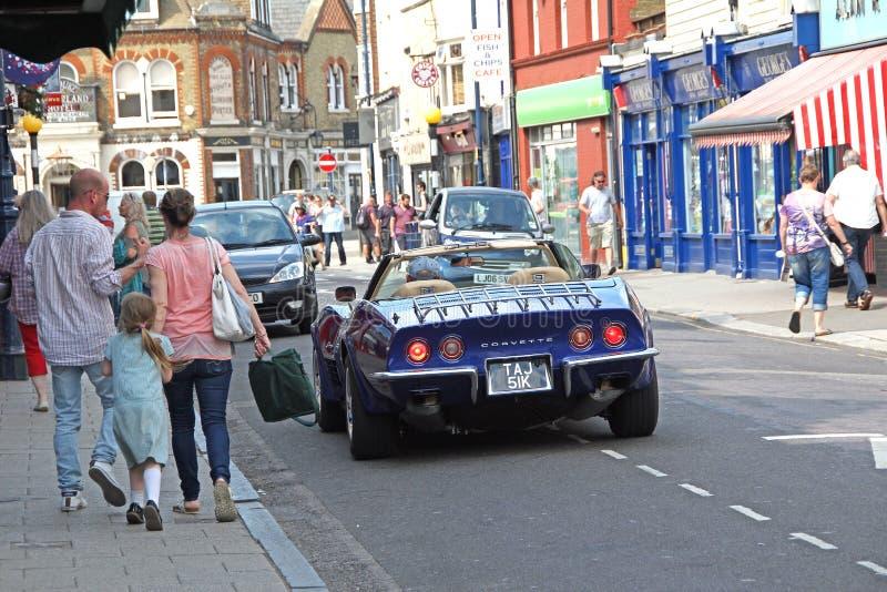 upptagen hög gata royaltyfri fotografi