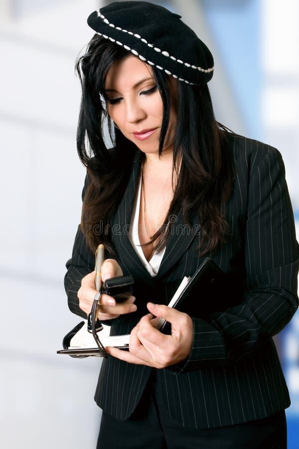 upptagen kvinna royaltyfria bilder