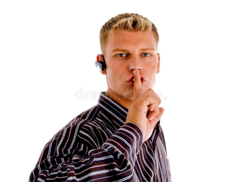 upptagen telefon för felanmälansoperatörstelefon royaltyfri bild