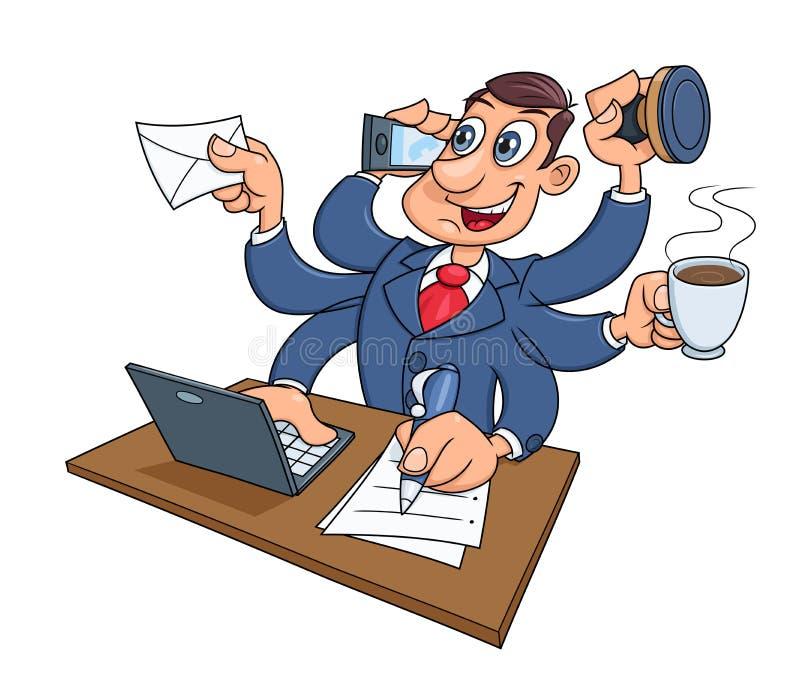 upptagen working för affärsman stock illustrationer