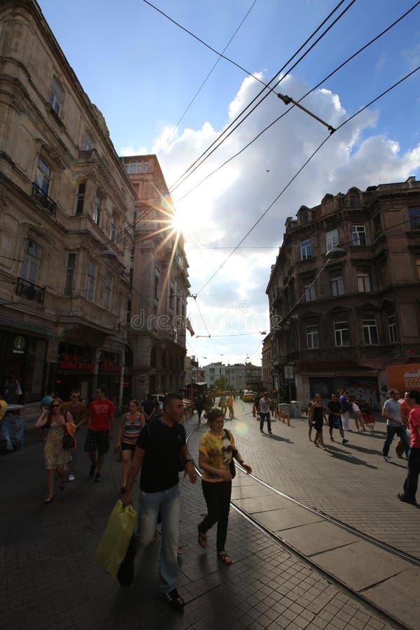 Upptagna Beyoglu fotografering för bildbyråer