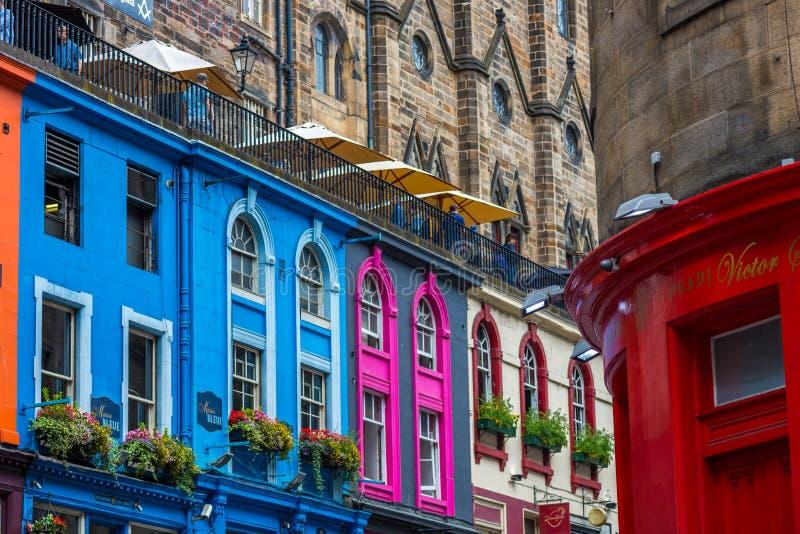 Upptagna gator av Edinburg, Skottland, UK arkivbild