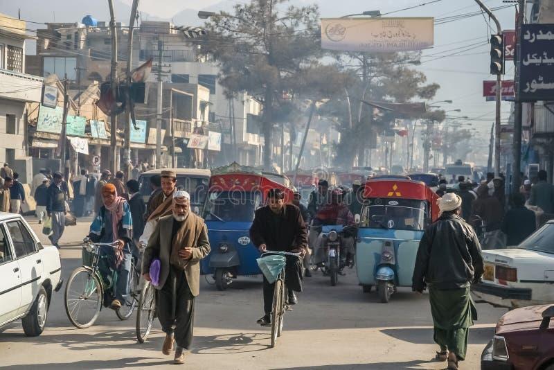 Upptagna gator av Quetta royaltyfria bilder