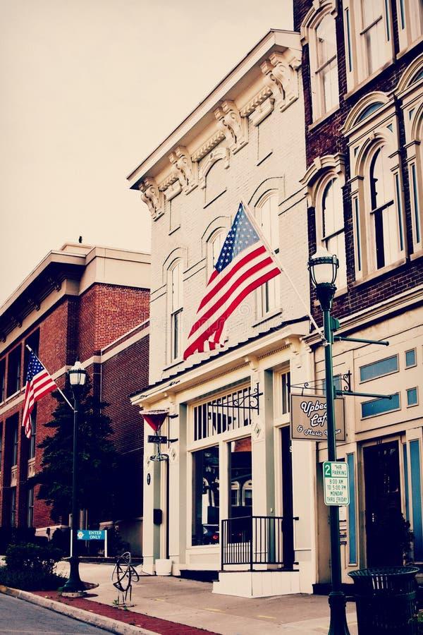 Upptaktkafé och musikmötesplats - Georgetown, Kentucky arkivfoto