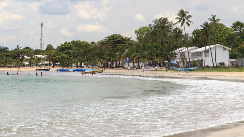 Uppuveli plaża Trincomalee, Sri Lanka - obraz stock