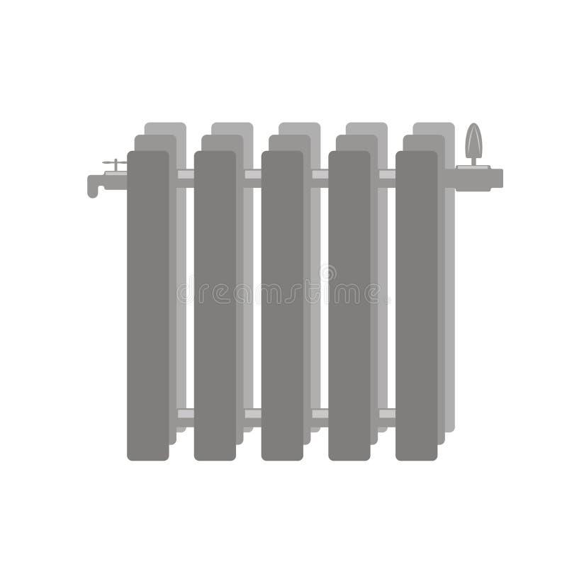 Uppvärmningbatteri för hem och kontor vektor illustrationer