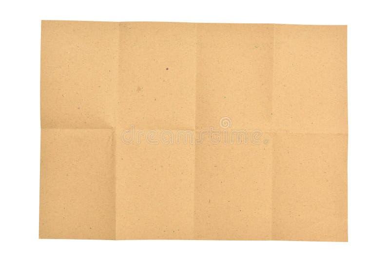 Uppvecklat brunt papper för stycke arkivbilder