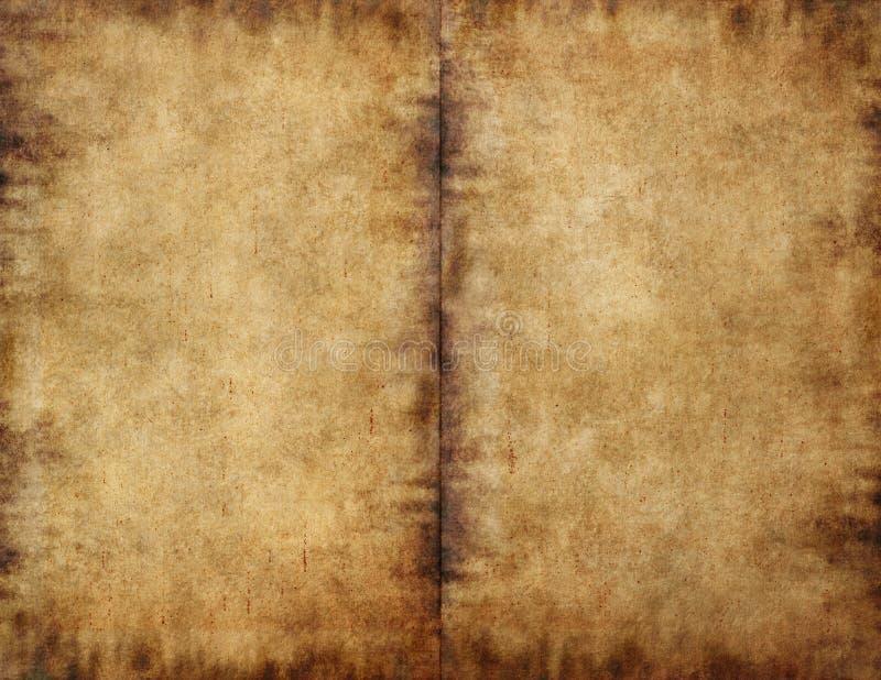 uppvecklat mörkt papper för bok som smetas royaltyfria bilder