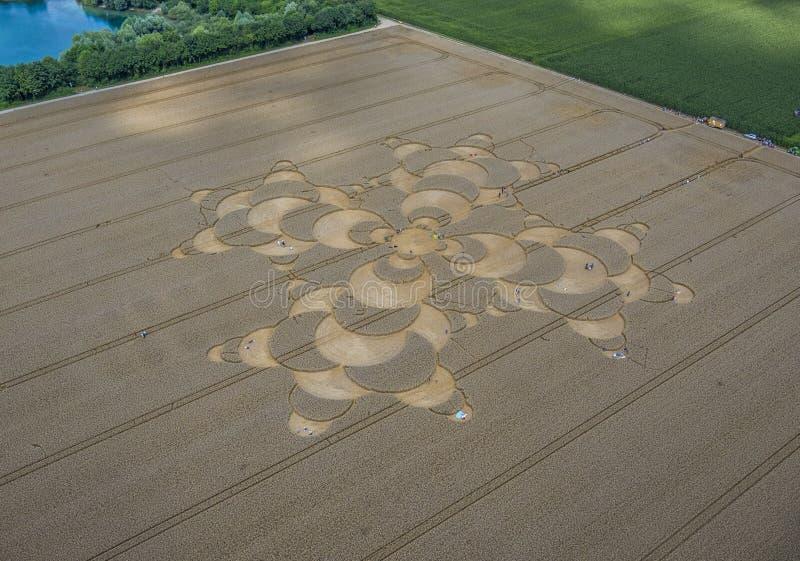Uprawa okrąg w polu uprawnym blisko Mammendorf, Bavaria, Niemcy obraz stock