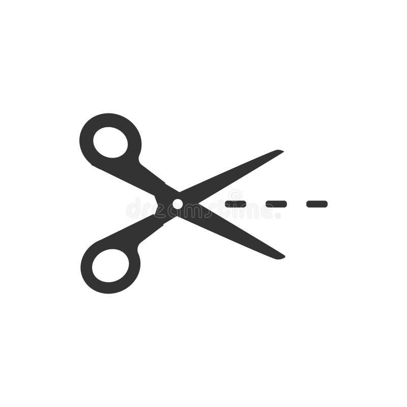Uprawa, rżnięta tnąca nożyce ikona Wektorowy illustartion, płaski projekt ilustracji