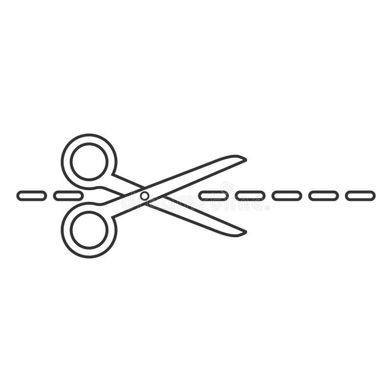 Uprawa, rżnięta tnąca nożyce ikona Wektorowy illustartion, płaski projekt royalty ilustracja