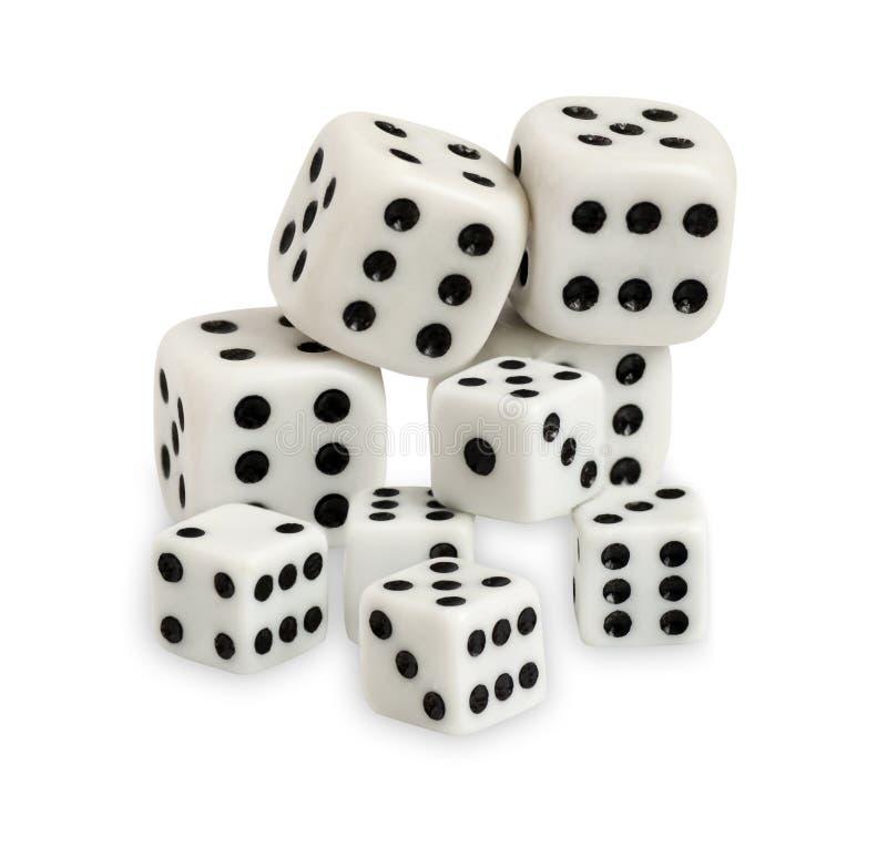 Download Uprawiać Hazard Dices Odosobnionego Na Białym Tle Obraz Stock - Obraz złożonej z hazardzista, chip: 28971007