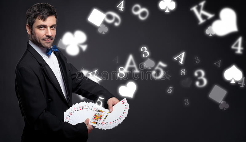 Uprawiać hazard i magia fotografia royalty free