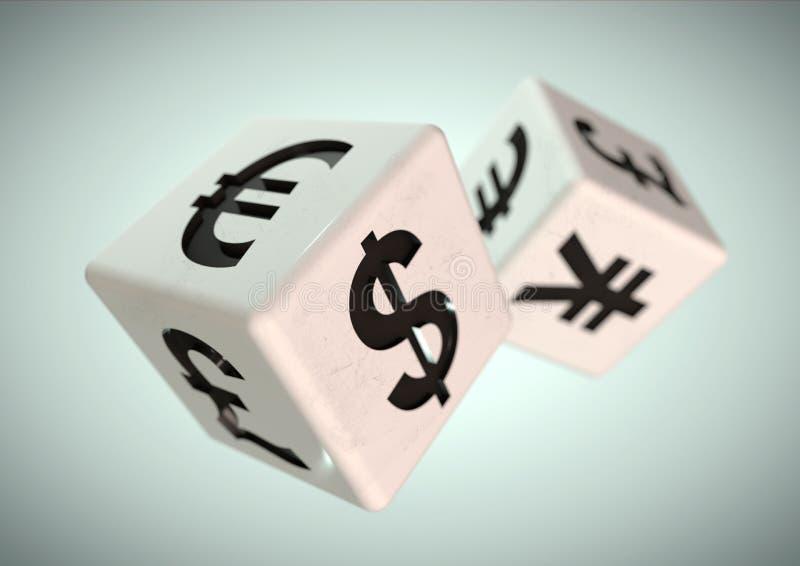 Uprawiać hazard na finacial rynku walutowym Pieniężny radzi conce zdjęcie royalty free