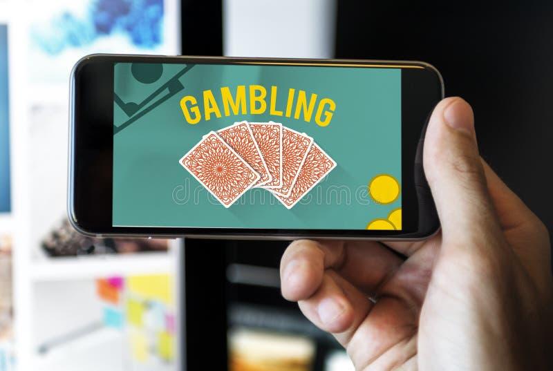 Uprawiać hazard szczęście najwyższej wygrany ryzyka zakładu pojęcie obraz royalty free