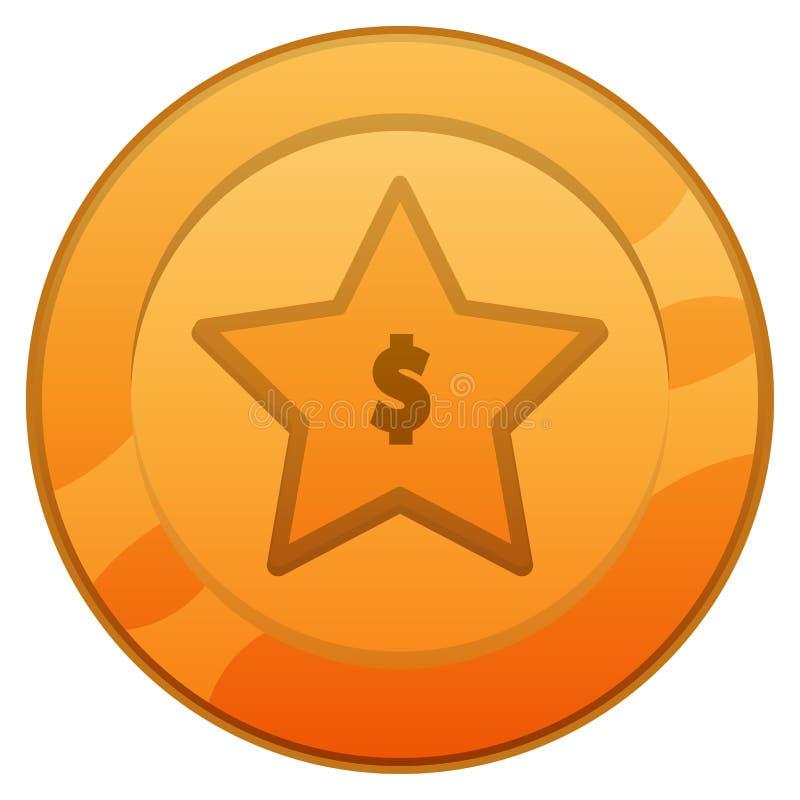 Uprawiać hazard złociste monety ilustracja wektor