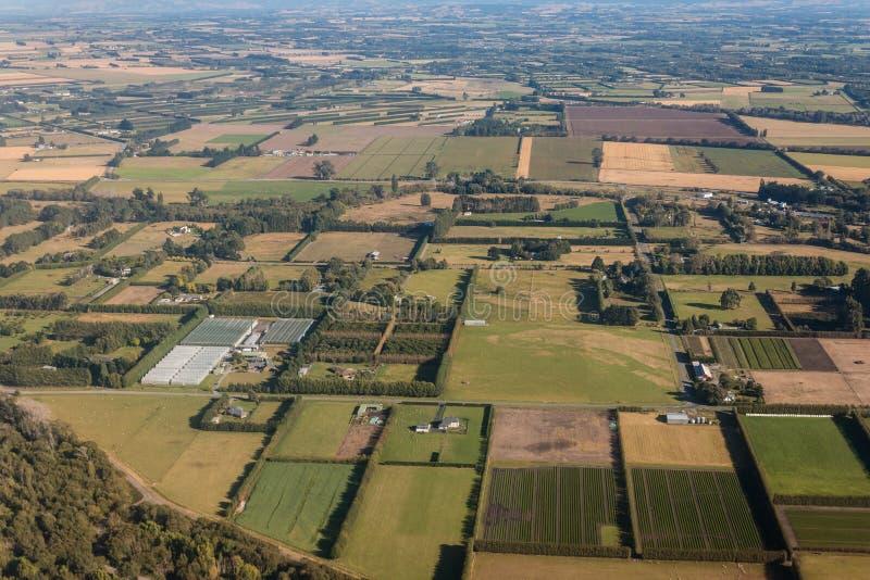 Uprawiać ziemię pola w Nowa Zelandia zdjęcia royalty free