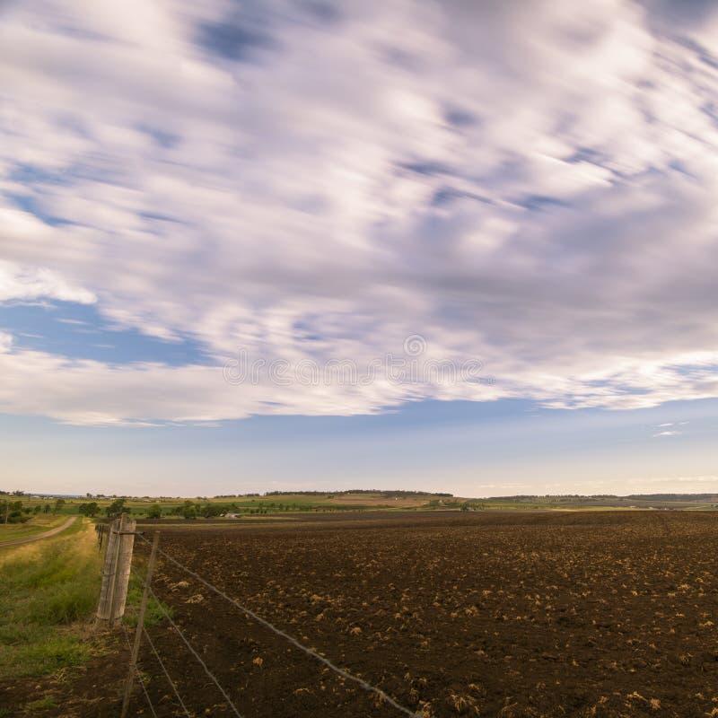Uprawiać ziemię pole w Toowoomba, Australia obraz stock