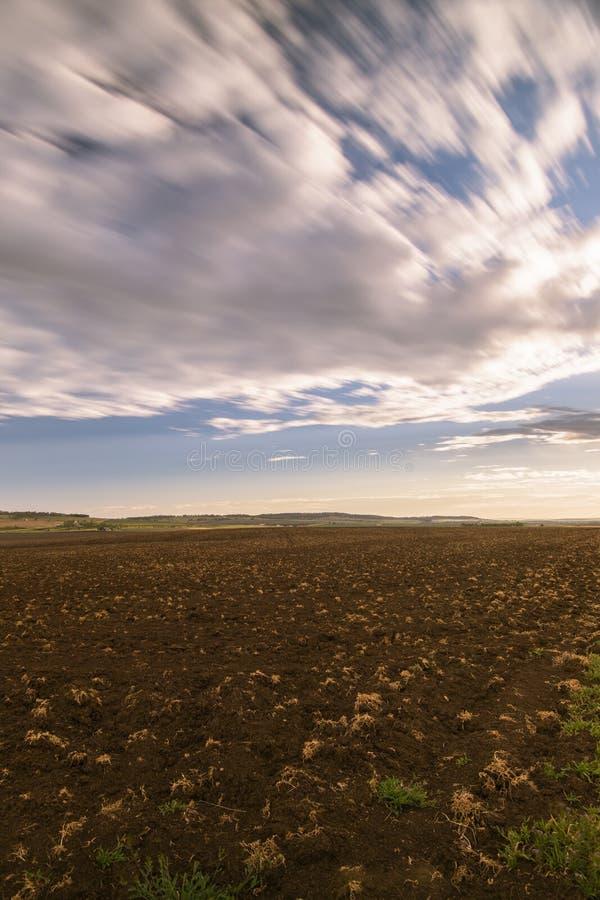 Uprawiać ziemię pole w Toowoomba, Australia fotografia stock