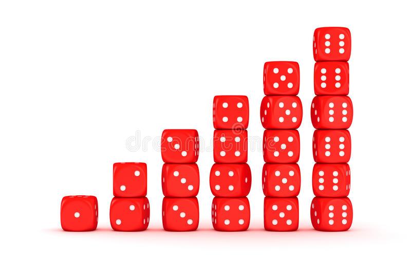 Uprawia hazard bary ilustracji