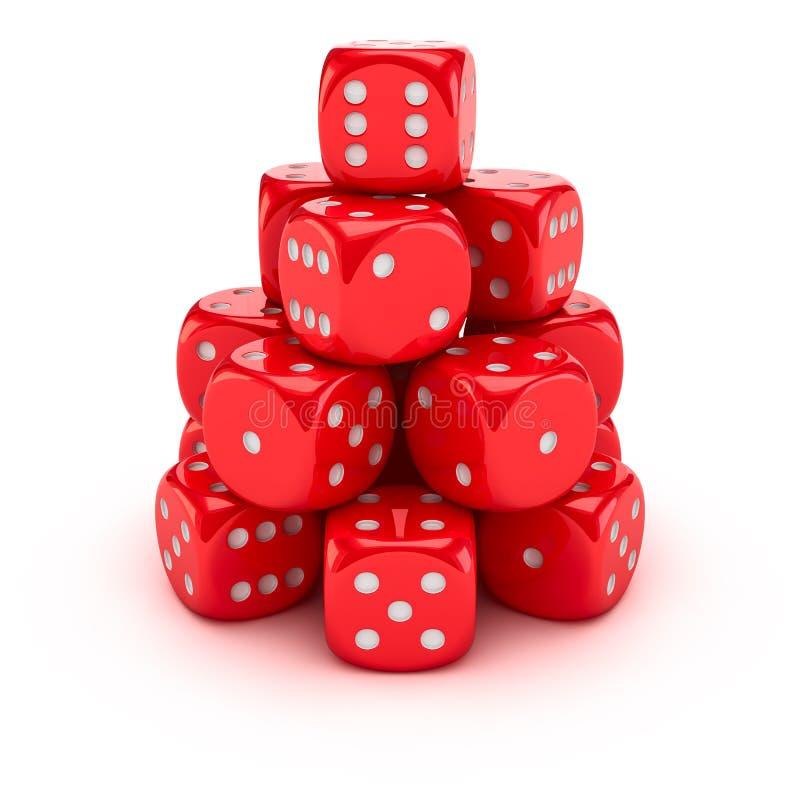 Uprawia hazard ostrosłup ilustracja wektor