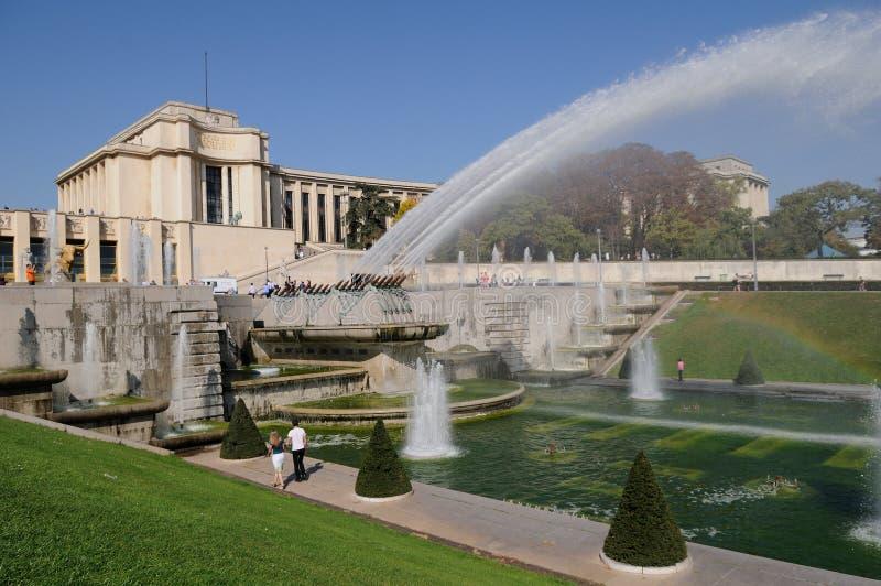 uprawia ogródek Paris trocadero obrazy royalty free