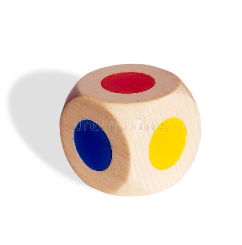 Uprawiający hazard kostka do gry odizolowywa zdjęcie stock