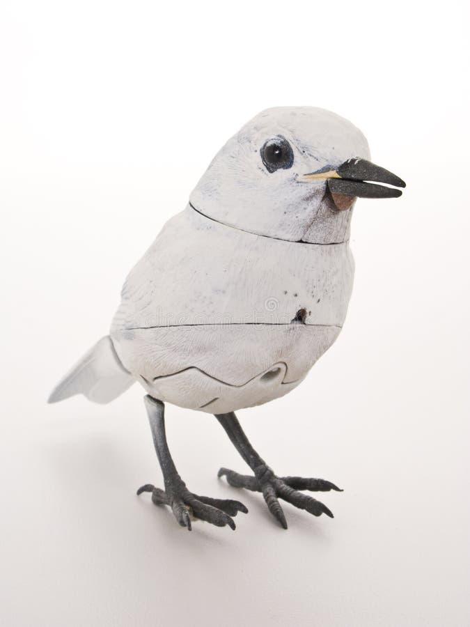 Upright mechanical bird stock image