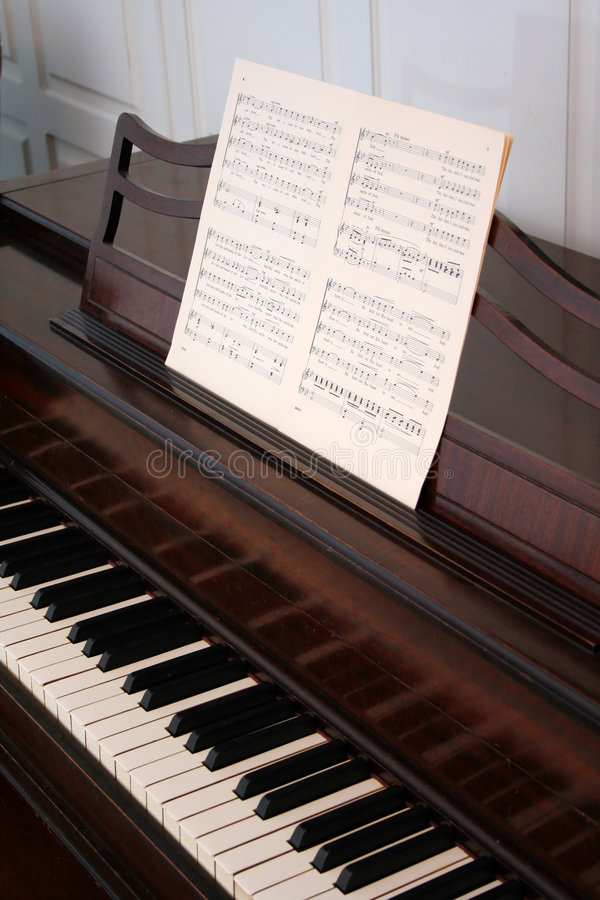 Download Upright Piano stock photo. Image of brown, notes, play - 4447394